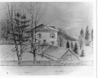 1901: Pastel Drawing of Menand House